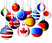 International Christmas balls