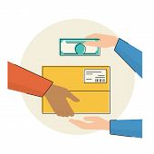 Постер, плакат: Payment by cash