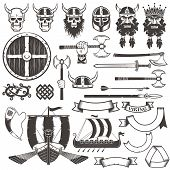 Постер, плакат: Set Viking items