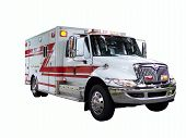 image of fire truck  - New Fire Rescue Truck with flashing lights - JPG
