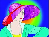 Lady With Colorful Hat