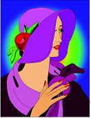 Lady With Lavender Hat