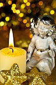 Christmas-angel With Candle.