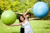 Pilates Class Outdoors