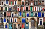 foto of front door  - Composite image of various doors around the Historic city of Norwich norfolk england - JPG