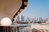 The Pearl Landmark On The Doha Corniche poster
