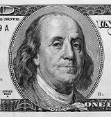 Detail Of Portrait On One Hundred Dollar Bill