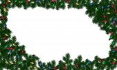 Christmas Light Frame Background