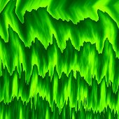 Постер, плакат: Abstract green color layers Wet grass Green leaf wall Full frame Fresh herb Old style back