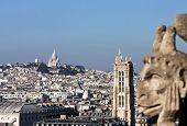 Paris Panorama With Gargoyle Statue