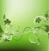 Fancy green floral design
