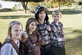 Children With School Backpacks