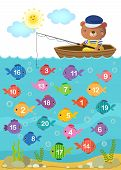 Learn Counting Number With Cute Bear poster