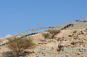Covered With Thatch Trailway In Hajjar Mountains. United Arab Emirates