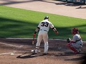 Giants Aaron Rowand Digs Feet Into Batters Box