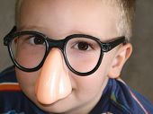 Big Nose Glasses On Little Boy