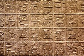 picture of hieroglyphic  - Close view of the hieroglyphics on a wall