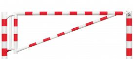 picture of gate  - Gated Road Barrier Closeup - JPG