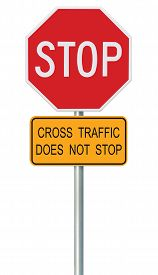 stock photo of truck-stop  - Red Stop Sign - JPG