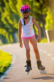 stock photo of inline skating  - Rollerblading - JPG