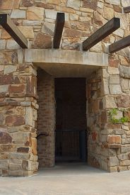 picture of underpass  - This is an underpass in a old stone tower - JPG