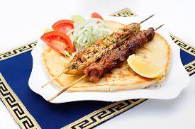 stock photo of souvlaki  - Souvlaki or kebab - JPG