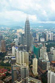picture of petronas towers  - KUALA LUMPUR MALAYSIA  - JPG