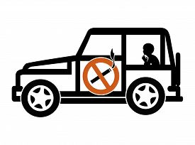 picture of underage  - Smoking in private vehicles with underage passengers is illegal in many countries - JPG