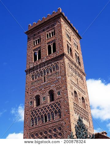 poster of San Salvador church tower (Mudejar Tower) 1277-1315 Teruel Teruel Province Aragon Spain Western Europe.