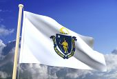 Massachusetts Flag (Clipping Path)
