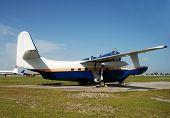 Vintage Seaplane On The Ground
