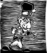 stock photo of mad hatter  - Mad Hatter from from Lewis Carroll - JPG