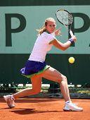 Stefanie Voegele (sui) At Roland Garros 2011