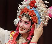 picture of customary  - Chinese opera actress performs traditional drama on stage - JPG