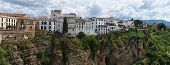 Ronda town in Spain on top of the cliff