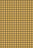 Black grid on golden background