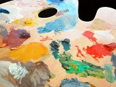Artist'S Palette In Use