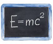 stock photo of einstein  - physics education concept  - JPG