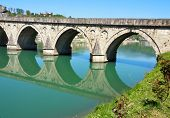 Old, Famous bridge on the Drina in Visegrad , Bosnia