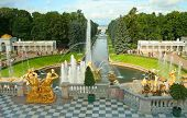 Peterhof, A Terrace Of The Grand Palace