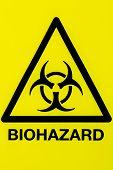 Close Up Biohazard Sign