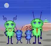 Alien Family Photo