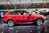 Moscow, Russia - August 25: Red Jeep Car Bmw X5 M At Moscow International Exhibition Interauto On Au