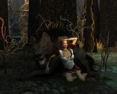 pic of wanton  - Red Riding Hood has joined forces with the Big Bad Wolf - JPG