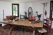 Colonial kitchen at Mary Washington's home