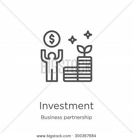 poster of Investment Icon Isolated On White Background From Business Partnership Collection. Investment Icon T