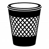 Domestic Bin Icon. Simple Illustration Of Domestic Bin Icon For Web poster