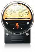picture of electricity meter  - Electricity hydro power counter detailed vector - JPG