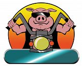 Hog Riding a Motorcycle