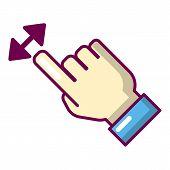 Cursor Motion Icon. Cartoon Illustration Of Cursor Motion Icon For Web poster